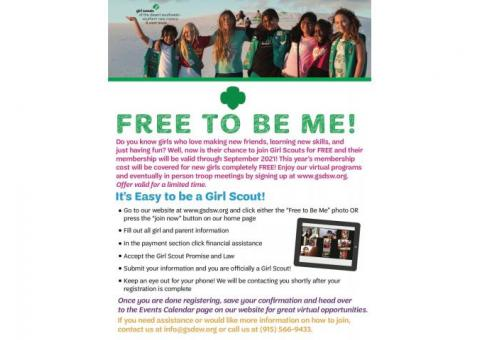 "Girl Scouts ""Free to be Me"""