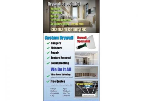 ✨ 919-742-2030 Drywall Hanger Finisher Repair Popcorn Texture Removal Contractor